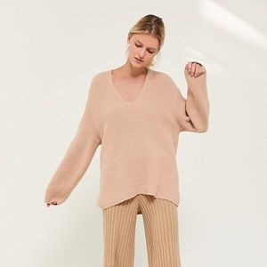 Urban Outfitters Victoria Oversized V-Neck Sweater